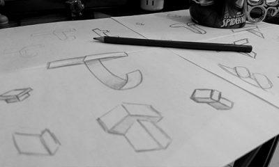 Rascunhos para a criação de logotipo para Tecnun, por Estúdio Rubio